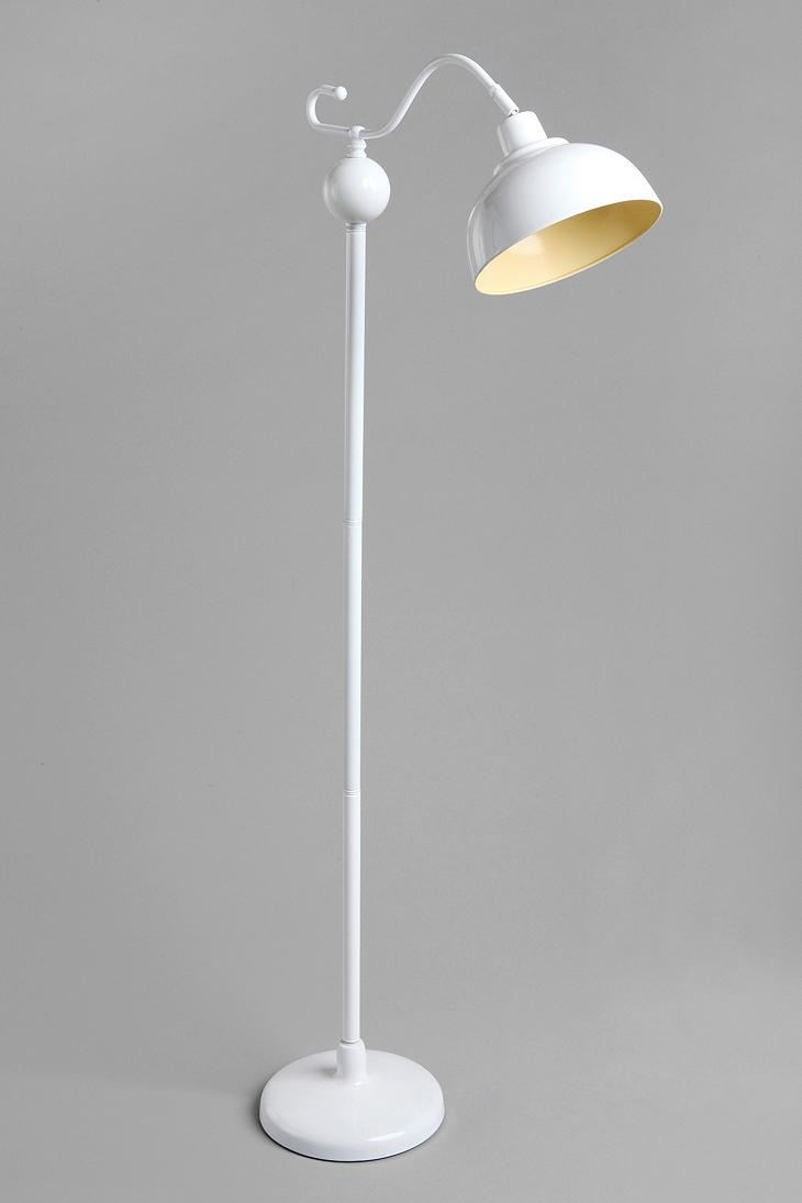 Stella Floor Lamp (perfect neutral floor lamp, compliments the accent ziggy chair, love the subtle yellow on the inside of the lamp!)