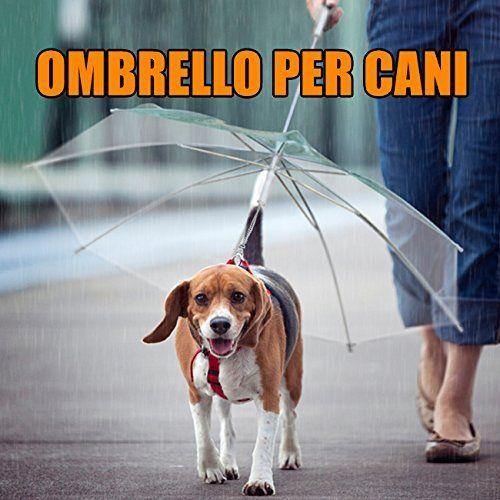 DP DESIGN® OMBRELLO PER CANE CANI DOG UMBRELLA GUINZAGLIO COLLARE SOSTITUISCE IMPERMEABILE euro 11,90