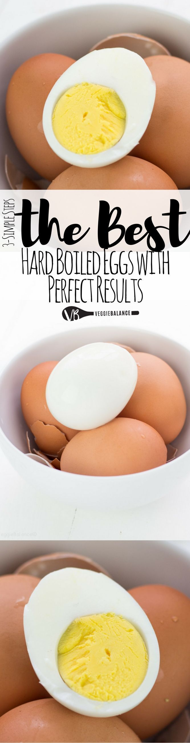 How to Make the Perfect Hard Boiled Eggs are a simple 3-step process to achieve perfected cooked, easy-to-peel and ready to add to any dish or eat as is boiled egg. It's brilliant!