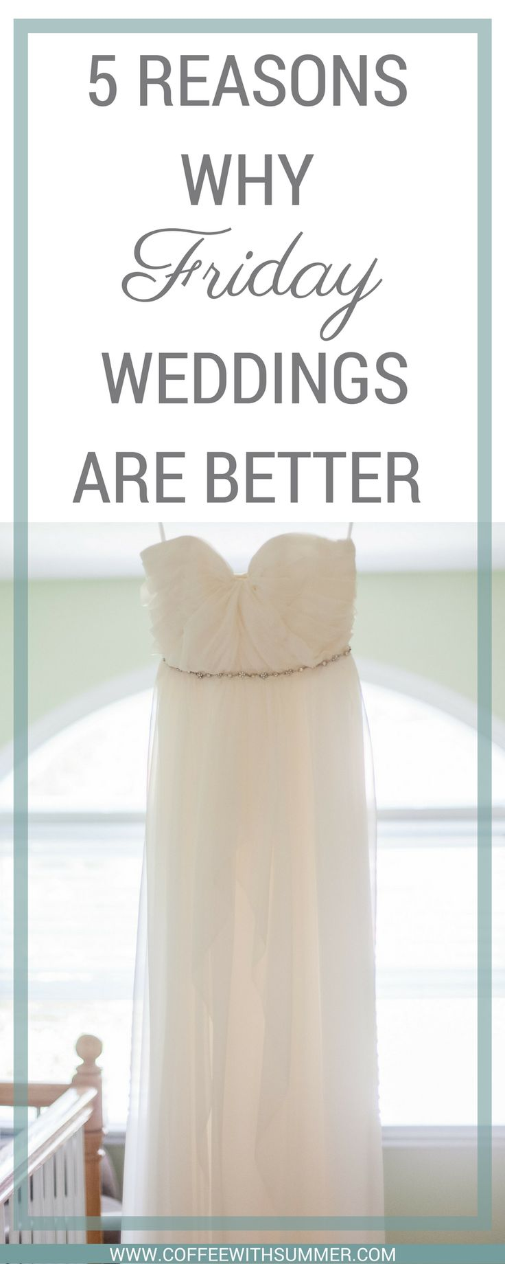 Trying to decide what day to have your wedding on? We chose to have a FRIDAY wedding and we are so glad we did. Here are 5 reasons why Friday weddings are better.