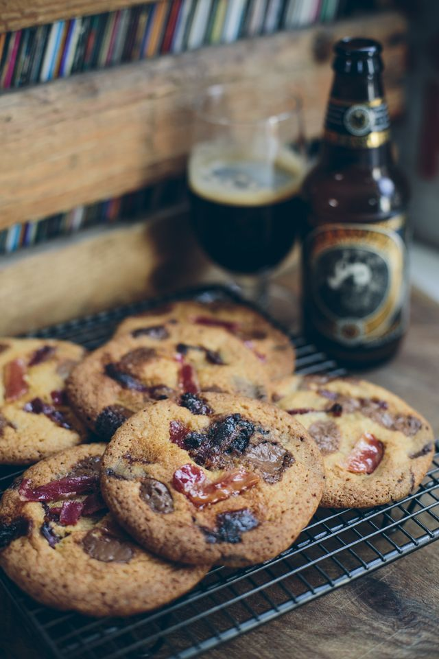 Beer & Bacon Cookies...All your  favorite things in one epic cookie! | DonalSkehan.com