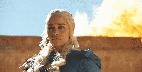 """One of Daenery's bodyguards literally takes a shit outside the walls of Meereen to warn the masters inside that this Kahleesi doesn't give a fuck. 