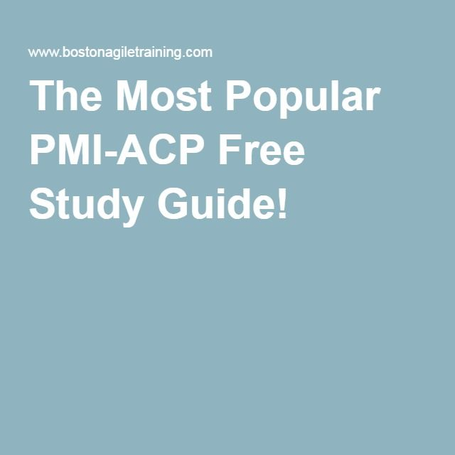 The Most Popular PMI-ACP Free Study Guide!