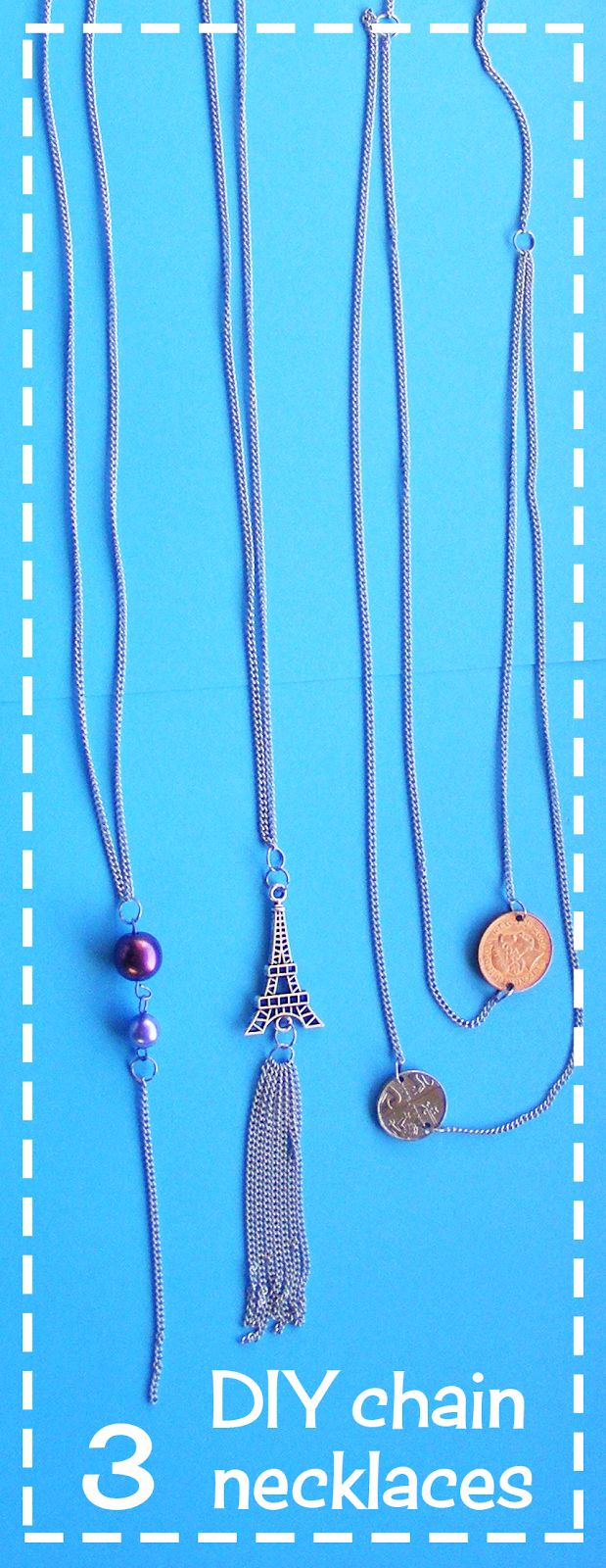 3 simple and cute DIY chain necklaces