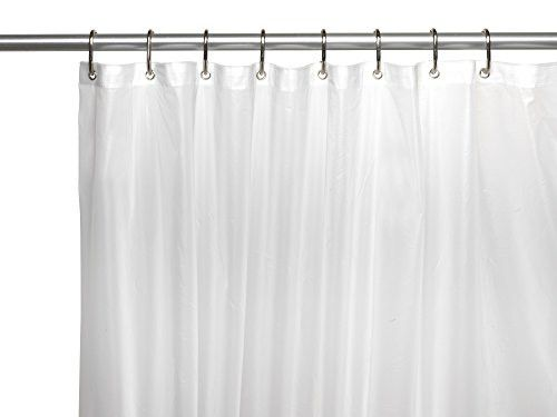 Royal Bath Jumbo Size Extra Heavy 10 Gauge PEVA Non-Toxic Shower Curtain Liner with Metal Grommets (72 inch x 96 inch ) - Super Clear