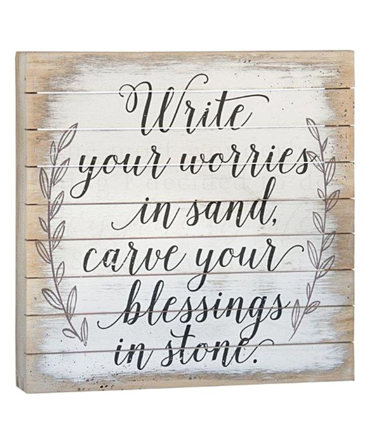Take a look at this 'Write Your Worries' Wall Sign today!