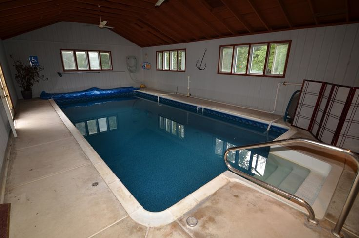 No need to wait for warm weather to take a dip - this pool is indoors & ready to go all year long! | 26 Cromwell Dr., Chesterfield, NJ 08515