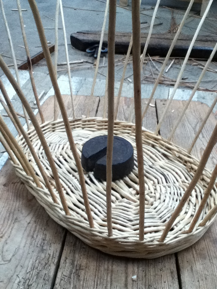 3 of 10 - washing basket being made wale finished