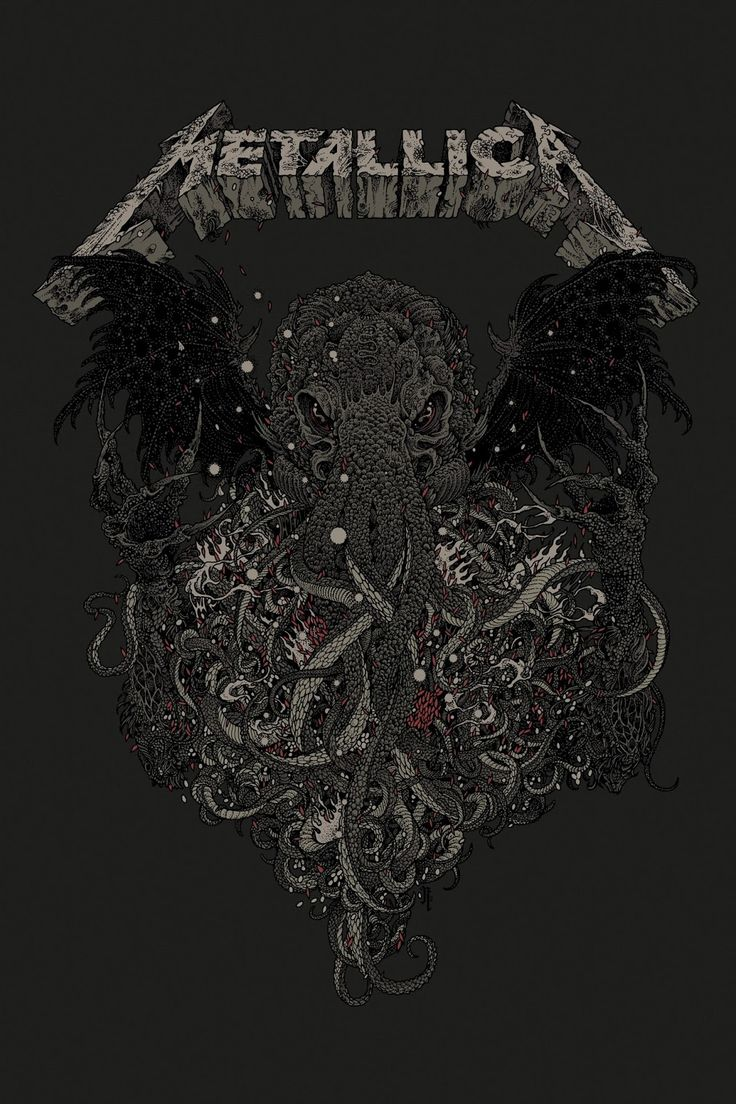 Metallica Ktulu Poster, 2015 by Richey Beckett