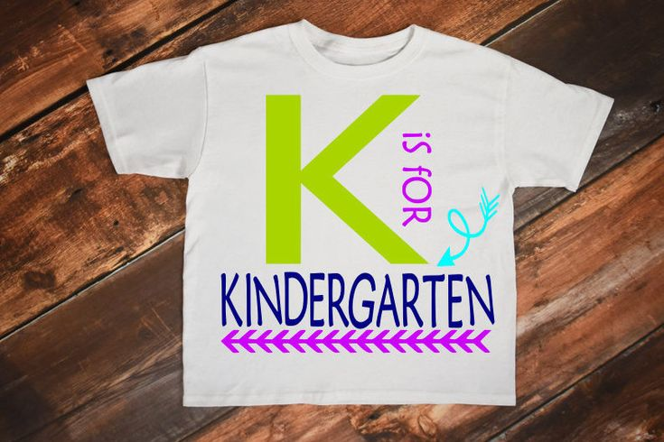 Kindergarten, Kindergarten svg, Kindergarten shirt, K is for, Kinder, Back to school svg, First day of school, 1st day of school, School svg by SewStitchThis on Etsy