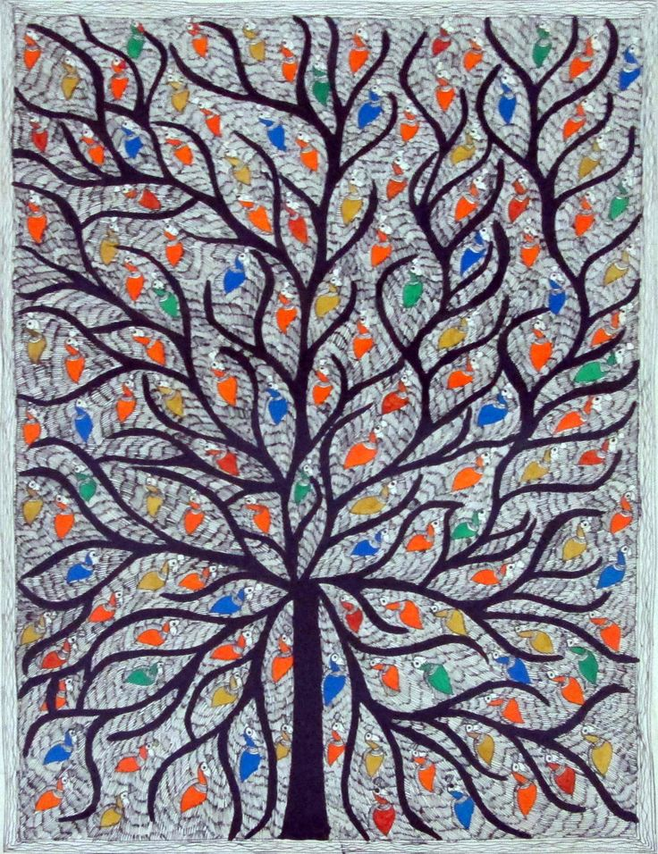 Madhubani / Mithila painting - Mithila region of Nepal and Bihar. done with fingers, twigs, brushes, -natural dyes & pigments, - geometrical patterns- each occasion and festival such as birth, marriage, Durga Puja etc. King Janaka of Nepal kingdom to decorate the town for the wedding of Sita. Done by women as spiritual expression on walls. India- Nepal earthquake 1934 - exposure