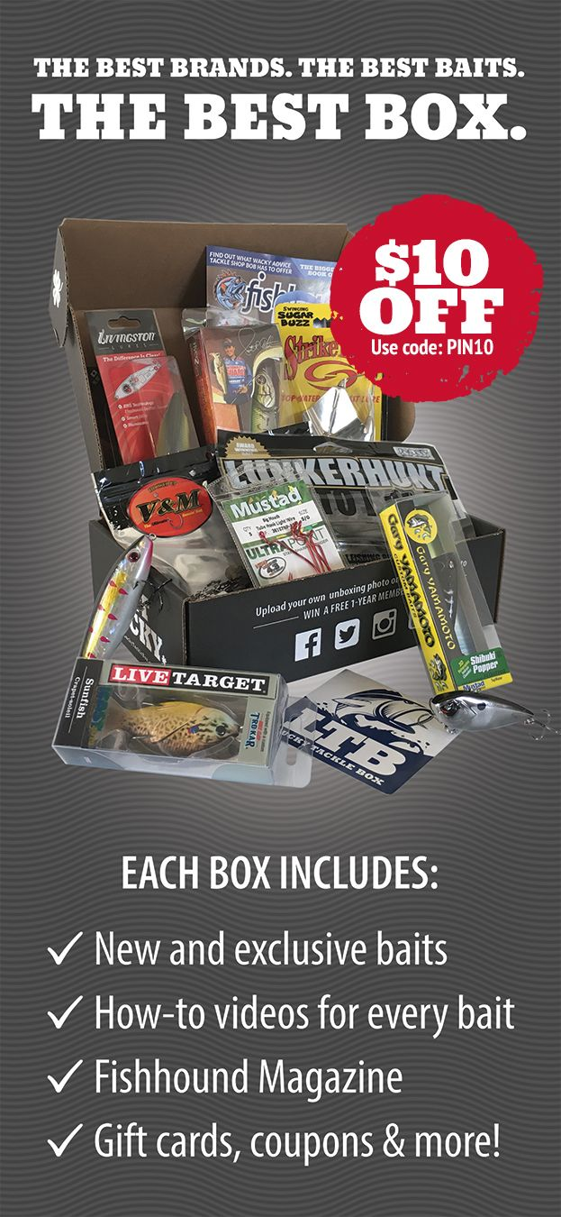 Lucky Tackle Box is the #1 monthly fishing subscription box. For one low monthly fee, we will ship you a box jam-packed with new lures and baits every month!