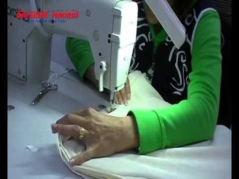 Como hacer un cojín con cordón. Galerias Madrid - YouTube