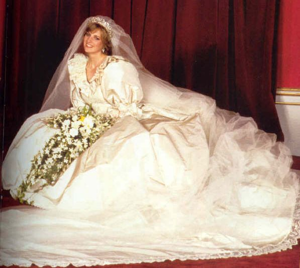 The Royal wedding. 1981. One of my fav pics of Diana. One of the most comment wedding dresses in history