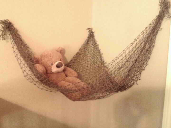 Nautical... Baby stuffed animal net from fishing net
