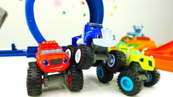 Гонки на треке - Игры для мальчиков: #ВСПЫШ (BLAZE) и Чудо #Машинки опят...