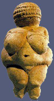 petite vénus paléolithique de Willendorf de face