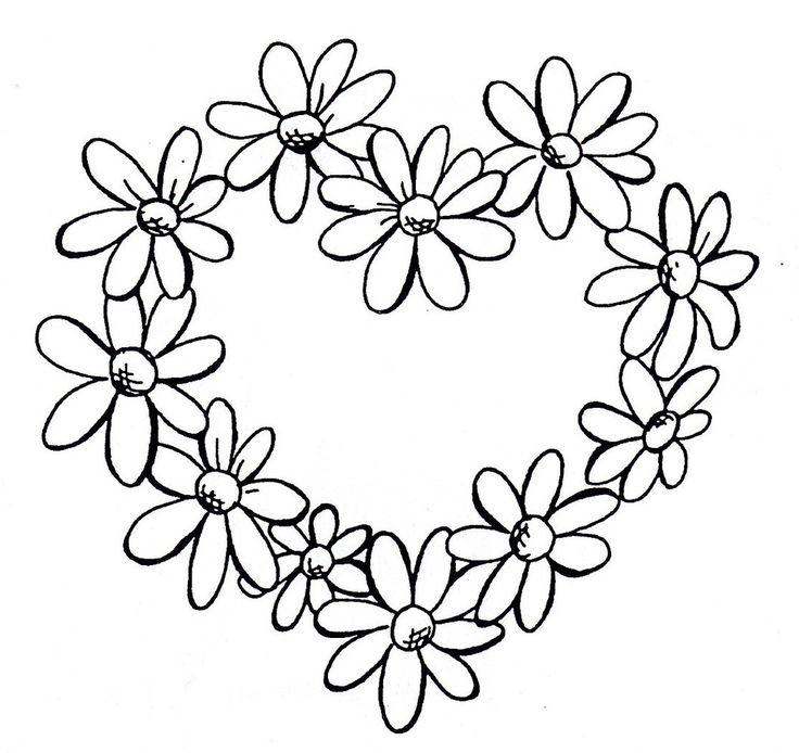 Heart Daisy Tattoo: Daisy Heart Border (With Images)