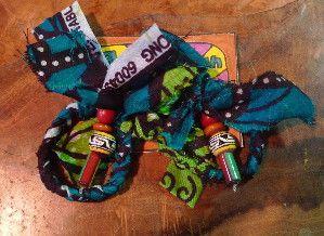 アフリカのテキスタイルを編み込んだピアスビーズつき|ハンドメイド、手作り、手仕事品の通販・販売・購入ならCreema。
