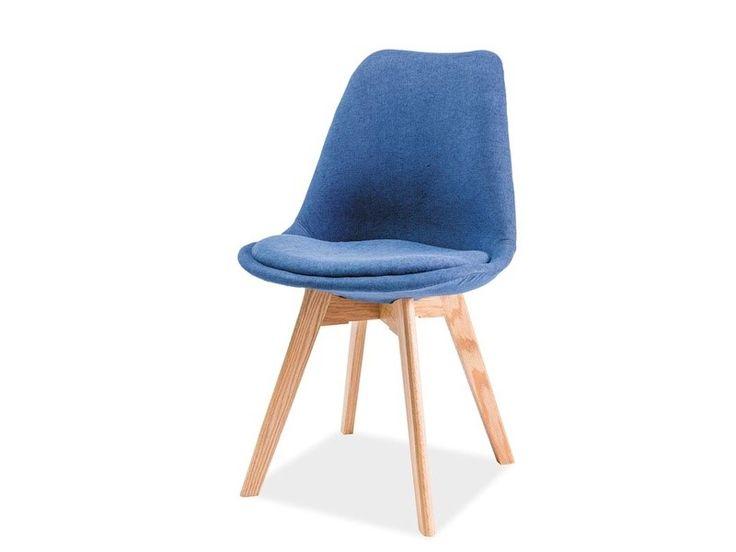 Krzesło DR niebieski /dąb