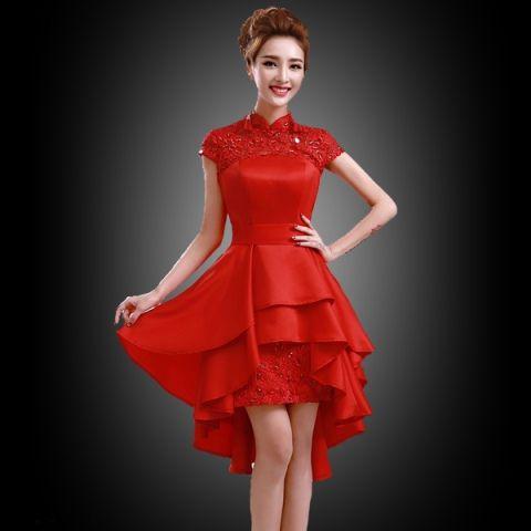 Gaun Pesta Modern Brokat Glamour