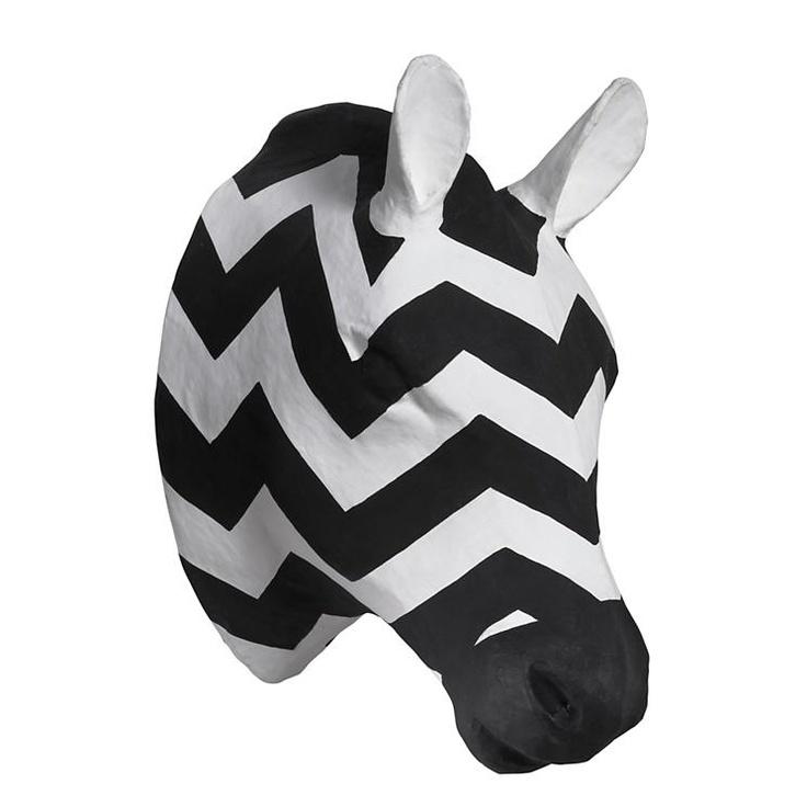 The Land of Nod | Kids Decor: Paper Mache Zebra Head in Hanging Décor