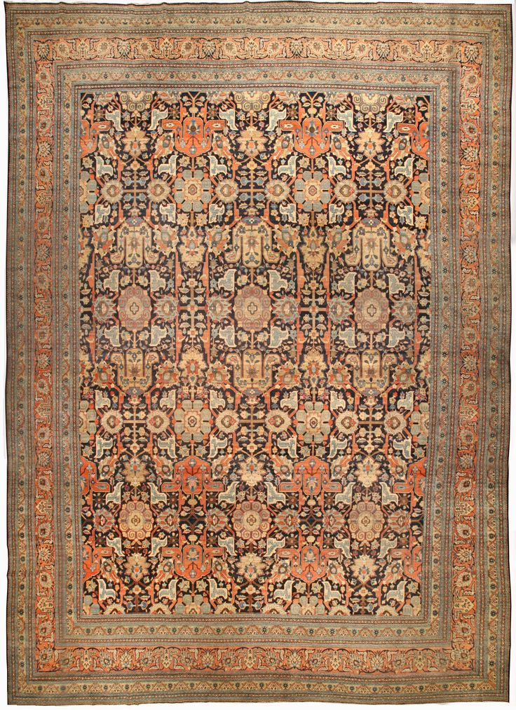Large Antique Persian Tabriz Rug Bb4493 By Doris Leslie Blau