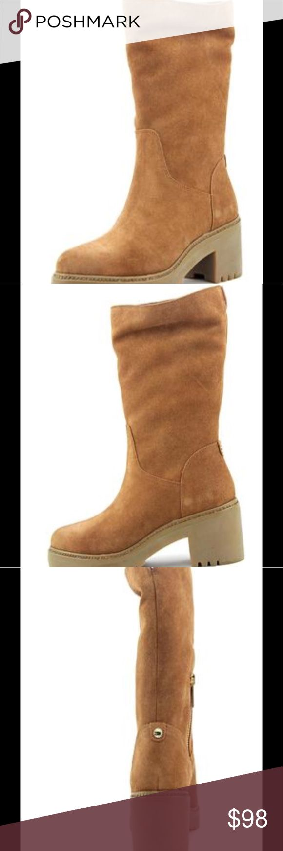 Michael Kors Whitaker Women Mid Calf Boot 👢size 7.5 👢color luggage 👢leather upper 👢rubber outsole 👢pull on boot MICHAEL Michael Kors Shoes Ankle Boots & Booties