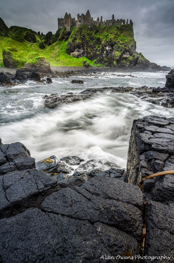 Dunluce Castle, Ireland...Underneath lies the Mermaid's Cave with its legend of a lost soldier taken to the deep after being entranced by a beautiful mermaid