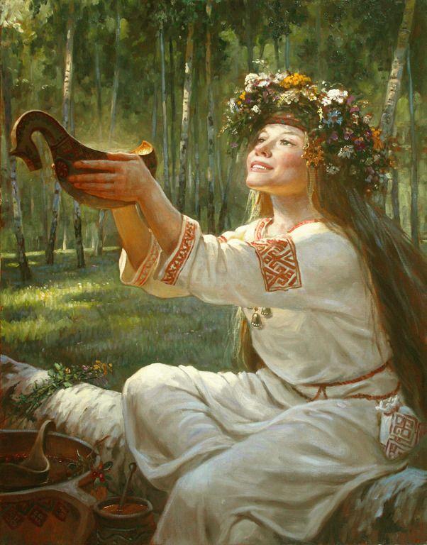 Сурица - богиня света, радости, веселья - картина художника Андрея Шишкина