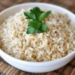 Baked Brown Rice - must try!