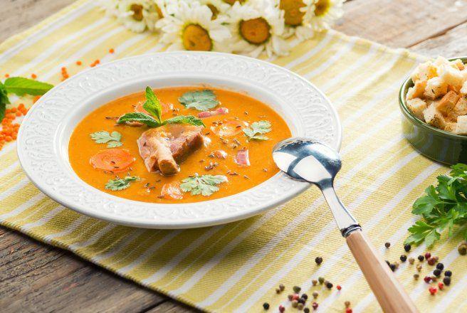 Retete Culinare - Supa crema de linte cu afumatura- la Blenderul Oster