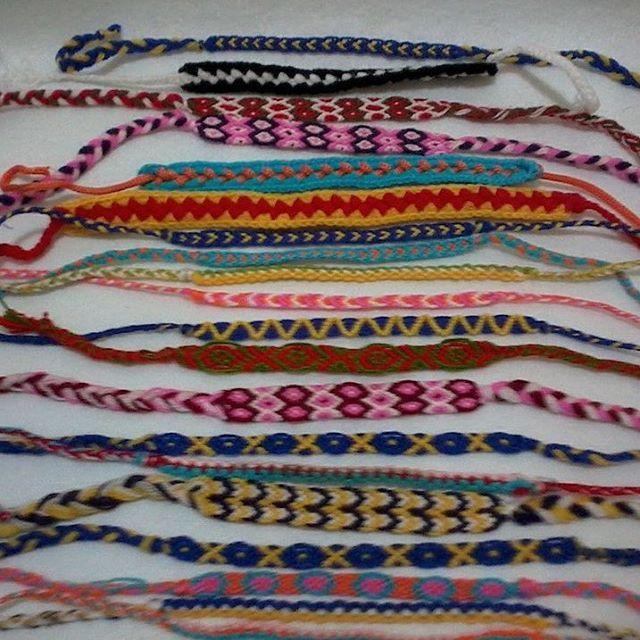Makreme bilekliklimden ornekler.  #bileklik #bracelet  #makrame  #boho #hippie #gypsy #wrap #makreme  #hippies