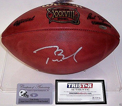 Tom Brady Hand Autographed Signed Official Leather Super Bowl 38 Xxxviii Game Football PSA/DNA - Signed NFL Football Memorabilia >>> You can get more details by clicking on the image.