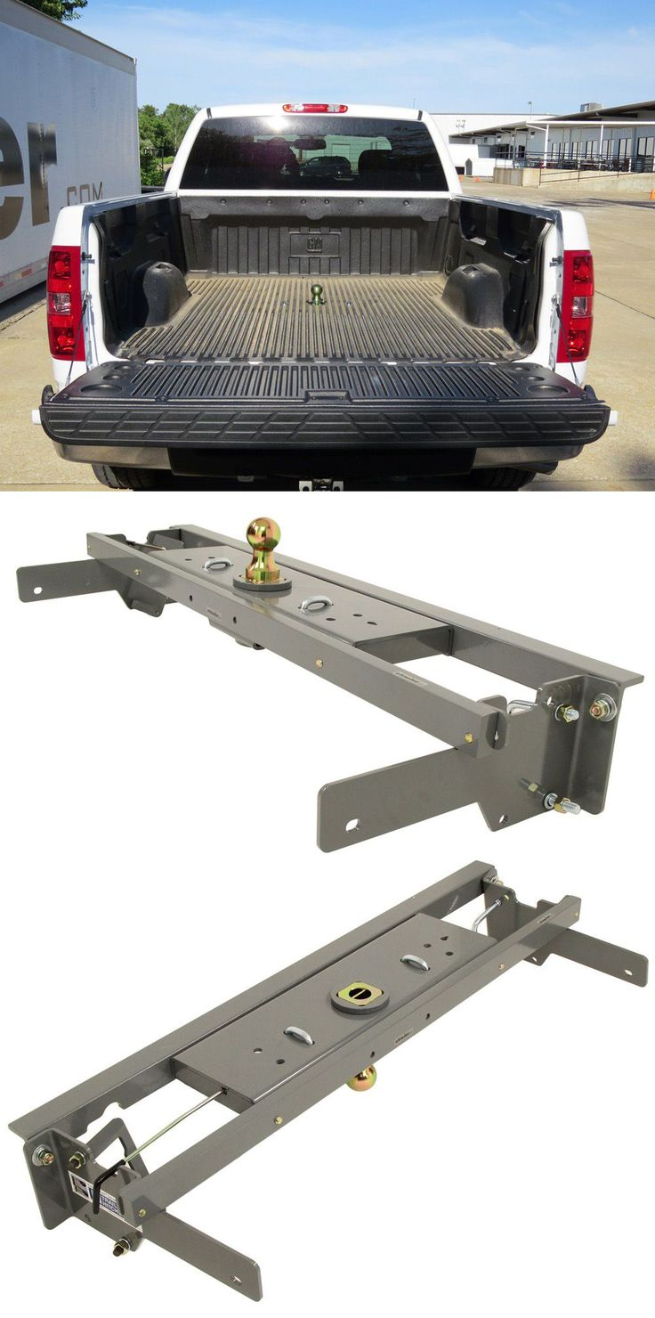 Gooseneck trailer hitch compatible with Chevy Silverado - securely tow gooseneck trailer with this heavy duty under-bed hitch.
