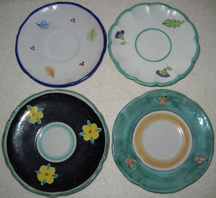 vintage vietri solimene bird plates jpg 1500x1000