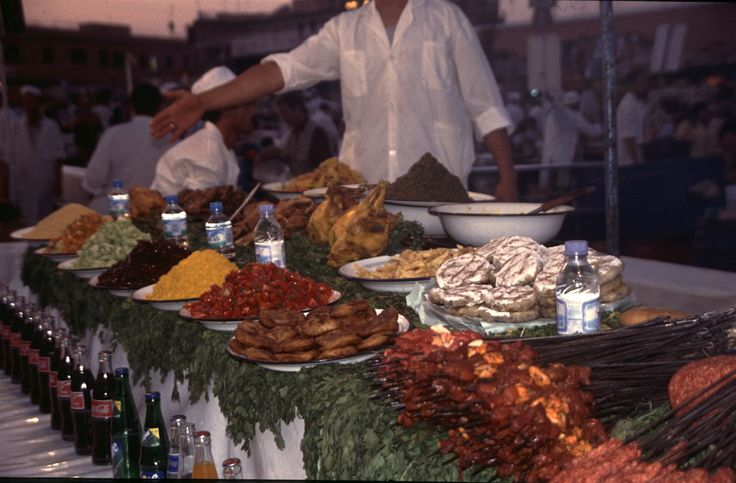 Now, this is a treat. The Djemaa-el-fna market is a large area for sellers to display their wonderful cuisine.