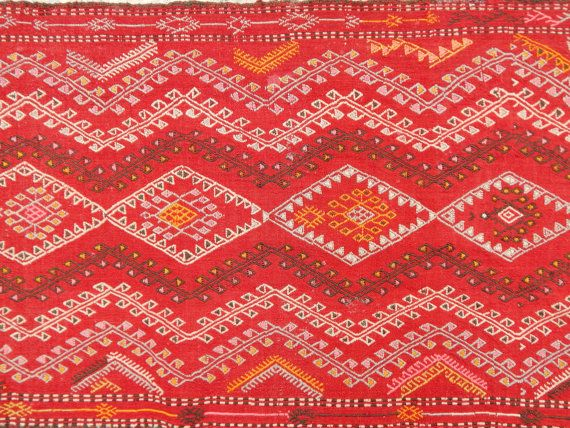 RUNNER RUGHigh Quality Kilim Runner Pink and Red Kilim Runner