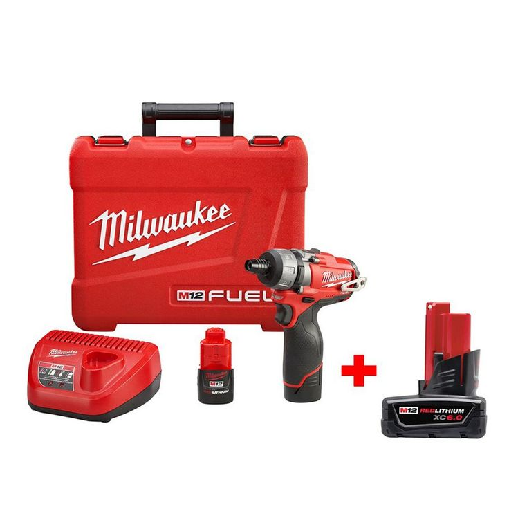 Milwaukee M12 Fuel 12-Volt Brushless 1/4 in. Hex 2-Speed Screwdriver Kit with 6.0Ah Battery
