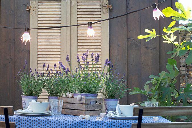 Ideas Para Decorar Con Bombillas Tu Terraza O Jardin Bombillas Decoracion De Unas Jardines