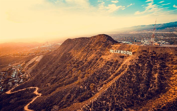 Los Angeles, Hollywood, mountains, America, USA