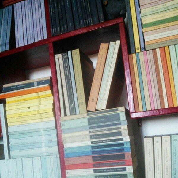 in #ordine per casa editrice in sottordine per collana in sottosottordine per autore in sottosottosottordine cronologico #libri #libreria