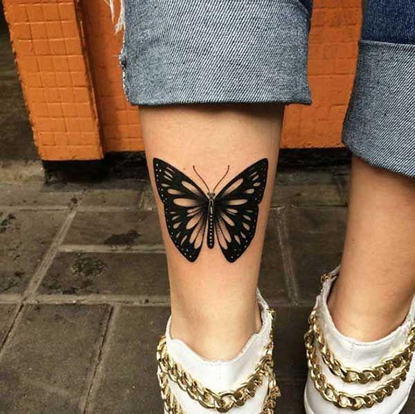 ayak bileği kelebek dövmeleri