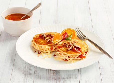 Cheddar and jam pancake sandwich