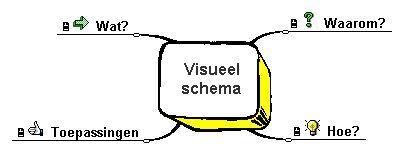 Maak een visueel schema van de leerstof