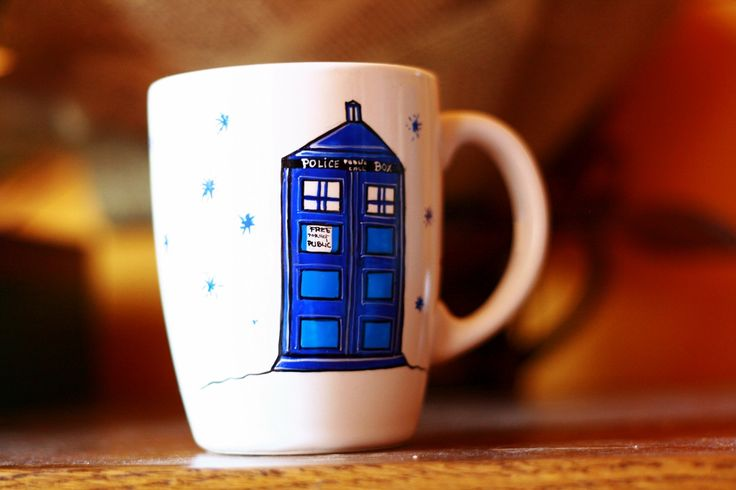 cana pictata dr. who #handmade #painted #mug #art #drwho