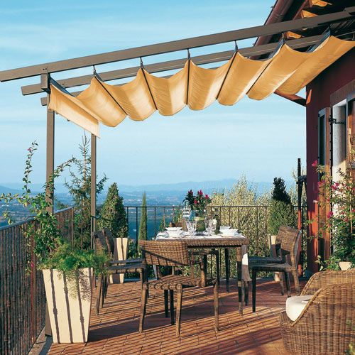 M s de 1000 ideas sobre sombra para patio en pinterest - Toldos para patios exteriores ...
