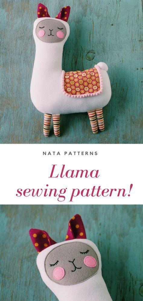 Llama sewing pattern PDF Llama mama tutorial LLama stuffed for kids birthday party Lama Alpaca dekor fabric pillow Llama no drama gift PDF
