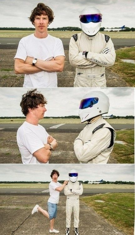 And, of course, this photoshoot. | The 10 Best Moments Of Benedict Cumberbatch's Top Gear Appearance