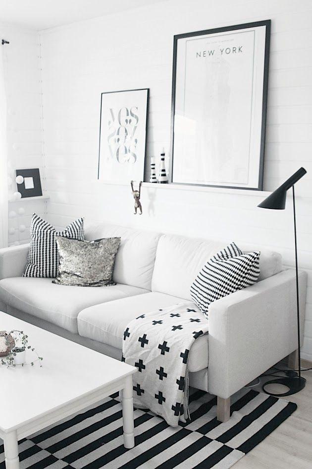 Black & white basics from IKEA | The Design Chaser via noepahjertet